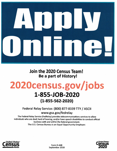 Apply Online for Census Job