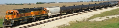 BNSF loads out ethanol tanker cars