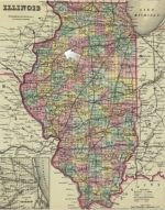 map of illinois with arrow pointing to location of galva