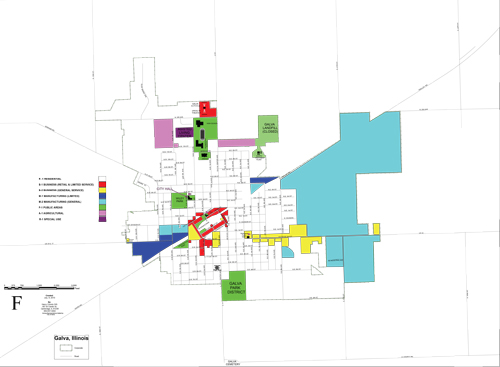 Galva Zoning Map Image